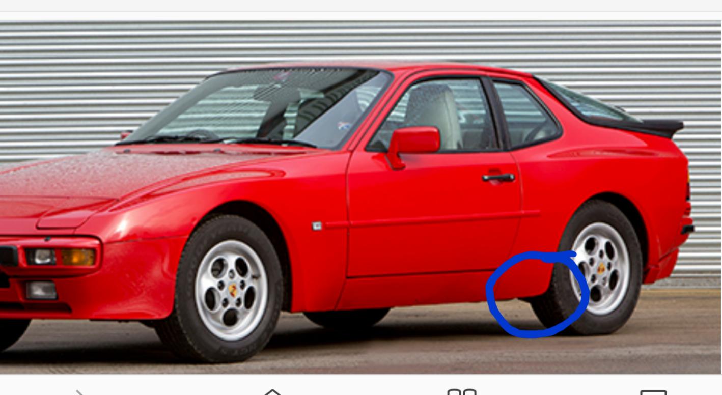 Porsche 944 Lower Rear Quarter